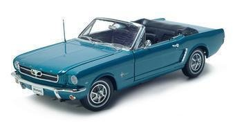 1964 1/2 FORD MUSTANG 1/18 DIECAST MODEL BLUE