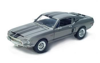 1968 SHELBY GT500 KR 1/18 DIECAST MODEL SILVER