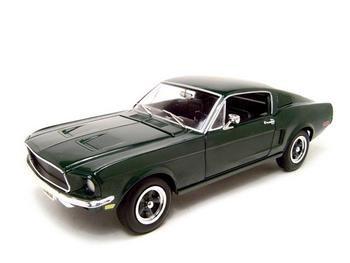 1968 FORD MUSTANG GT GREEN 1:18 ERTL DIECAST MODEL
