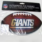 NY Giants 3D Football Magnet Authentic NFL Licensed Merchandise