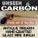 Antique Gun Shaped Hand-made Collectible Glass Pipe
