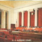 Washington DC – U.S Supreme court – Court Room – 1950s unused chrome Postcard