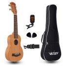 VI VICTORY Soprano Ukulele 21in Mahogany Aquila String Beginner Kit