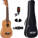 "Wholesale 10pcs VI VICTORY Soprano Ukulele 21"" Mahogany Aquila String Beginner Kit"