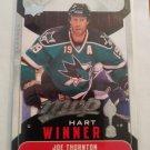 Joe Thornton 2009-10 UD MVP Hart Winner Insert Card