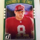 Steve Young 2016 Donruss Legends Of The Fall Insert Card