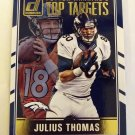 Peyton Manning & Julius Thomas 2016 Donruss Top Targets Insert Card