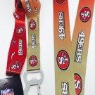San Francisco 49ers NFL Keychain & Bottle Opener Lanyard