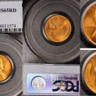 1948-S 1C RD Lincoln Cent - Type 1 Wheat Reverse - PCGS MS65RD
