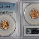 1955-S 1C RD Lincoln Cent - Type 1 Wheat Reverse - PCGS MS65RD **FREE SHIPPING**