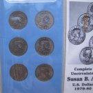 1979 &1980 P,D,S Susan B Anthony Dollar 6 Coin Mint Set in Littleton Coin Folder