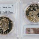 1977 S Eisenhower Ike Clad Dollar $1 PCGS PR69DCAM.