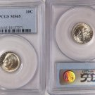 1957 Roosevelt 90% Silver Dime Stunning Frosty White PCGS MS 65 GEM BEAUTY