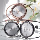 Ladies Rose Gold Watch female Luxury Double Ring steel band casual