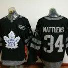 2017 100th Anniversary Toronto Maple Leafs 34 Auston Matthews black jersey style 2