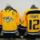 2017 Hockey Jersey Nashville Predators 12 Mike Fisher Yellow