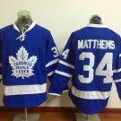 2017 New Toronto Leafs Jerseys 100th Anniversary 34 Auston Matthews Blue Hockey Jersey