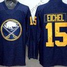 Buffalo Sabres 15 Jack Eichel Ice Hockey Navy Blue Jerseys Style 2