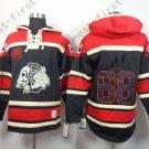 Chicago Blackhawks 88 Patrick Kane Black Hooded Pullover Ice Hockey Hoodies