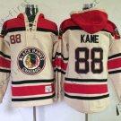 Chicago Blackhawks 88 Patrick Kane White Hooded Pullover Ice Hockey Hoodies