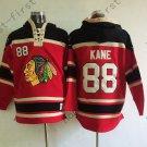 Chicago Blackhawks 88 Patrick Kane Red Hooded Pullover Ice Hockey Hoodies Style 1
