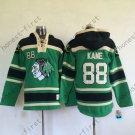 Chicago Blackhawks 88 Patrick Kane Green Hooded Pullover Ice Hockey Hoodies