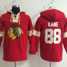 Chicago Blackhawks 88 Patrick Kane Red Hooded Pullover Ice Hockey Hoodies Style 2