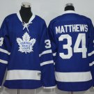 2016 Kids Toronto Maple Leafs 34 Auston Matthews Youth Ice Hockey Blue Jersey