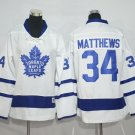 2016 Kids Toronto Maple Leafs 34 Auston Matthews Woman Ice Hockey White Jersey