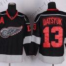 2016 Stadium Series Detroit Red Wings #13 Pavel Datsyuk Black Hockey Jerseys