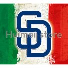 San Diego Padres Flag Flying stripes metal Grommets g 3 x 5ft Banner digital printed