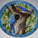 COLLECTORS PLATE - DANBURY MINT - WINGED TREASURES, BLUEBIRD
