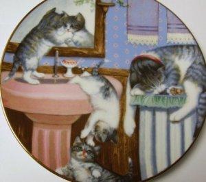 COLLECTORS PLATE - HAMILTON - MISCHIEF MAKERS, 1988 ~~ CATS KITTENS