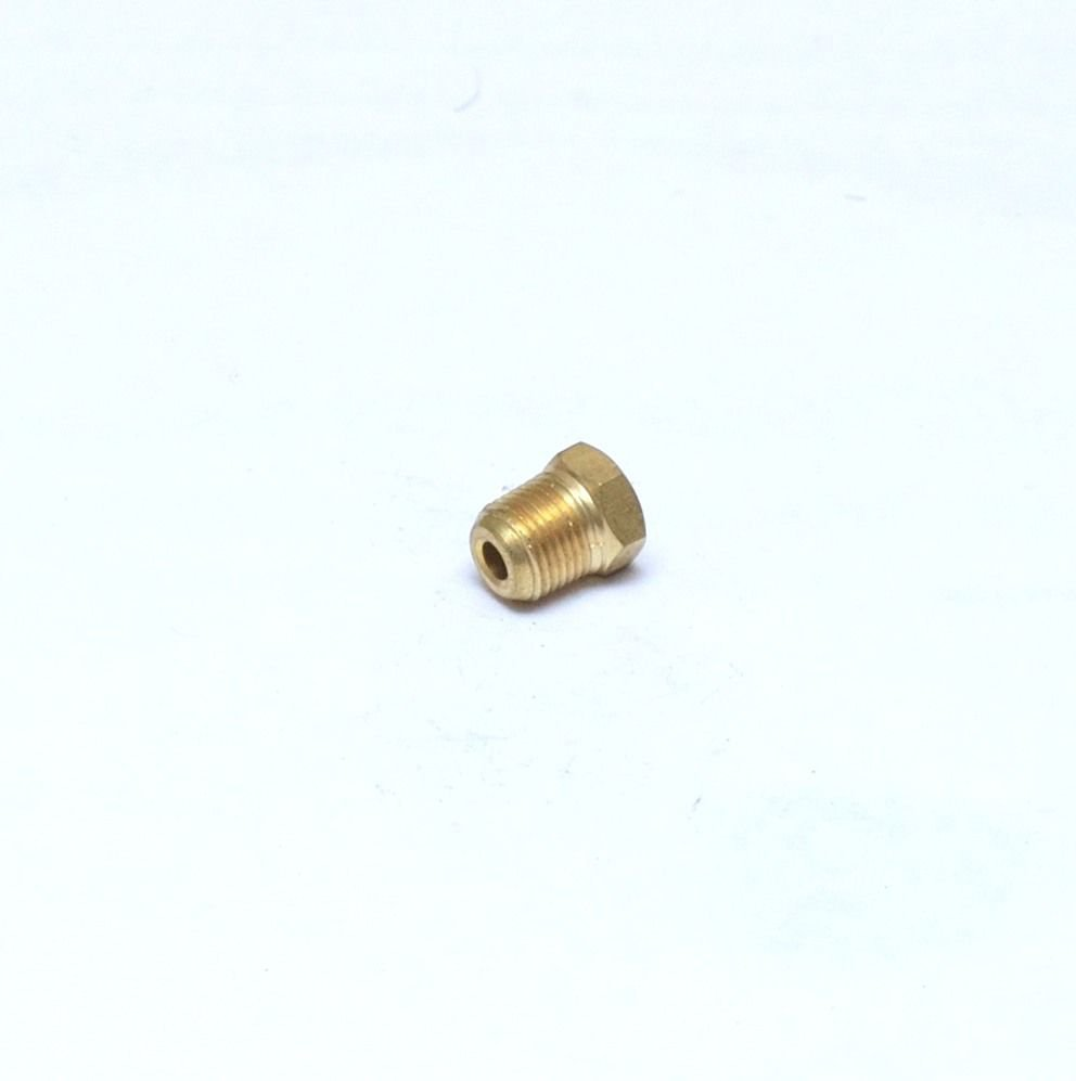 """Brass Hex Head Pipe Plug 1/8"""" Male NPT MPT MIP Fitting FasParts Cored Hollowbody"""