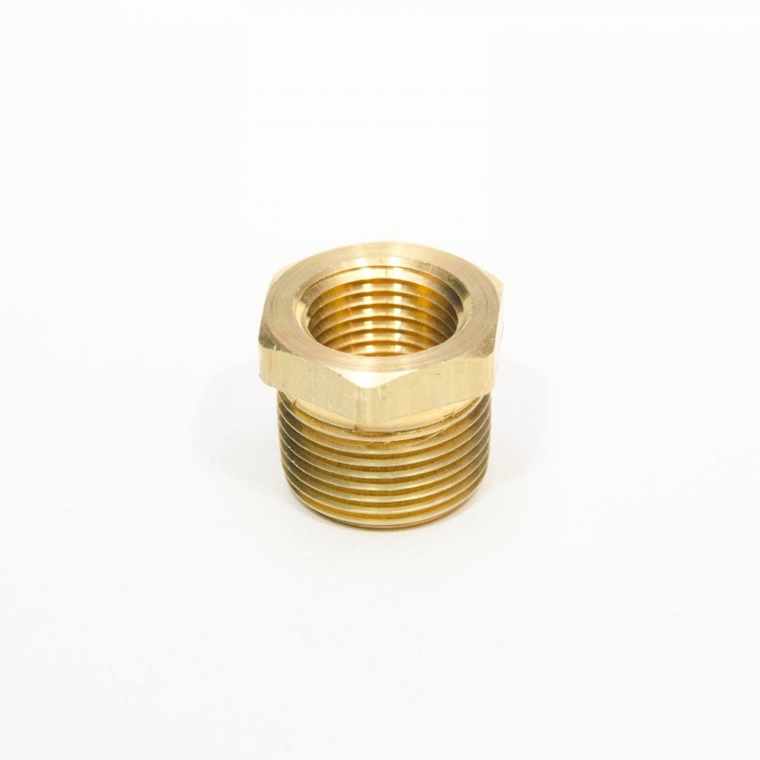 Brass Reducer bushing adapter 3/4 NPT Male x 1/2 NPT Female FasParts