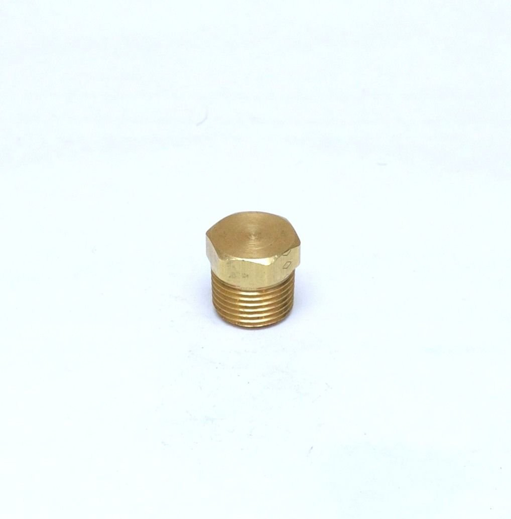 """Brass Hex Head Pipe Plug 3/8"""" Male NPT MPT MIP Fitting FasParts Cored Hollowbody"""