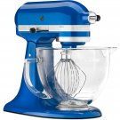 KitchenAid Electric Blue Tilt Artisan Stand Mixer 5 qt Glass Bowl = BLUE