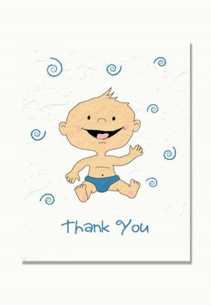 """New Baby"" Baby Shower Thank You Cards"