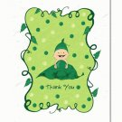 """""""Sweet Pea"""" Baby Shower Thank You Cards"""