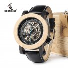 BOBO BIRD Unique Style Automatic Mechanical Wood and metal Analog Watch Men