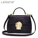 LAFESTIN Ladies Luxury Doctor Handbag Real Leather Shoulder Handbag
