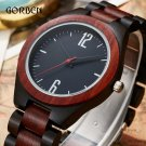 Wooden Quartz Luxury Watch For Men Natural Bamboo Full Wood