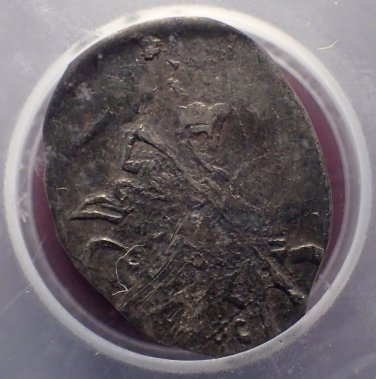 1613-1645 Russia Silver Wire Kopek Michael Feodorovich ICG EF40!