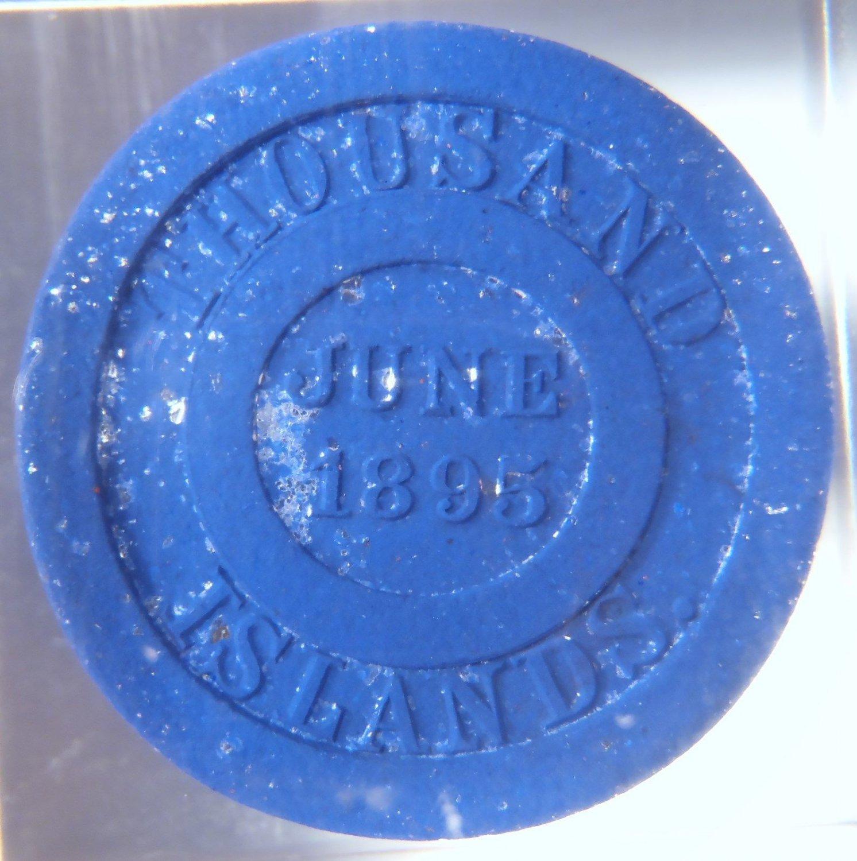 Rare 1895 H W Johns Hard Rubber Mica Trade Token