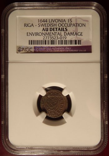 Rare 1644 Livonia 1S Riga Swedish Occupation NGC Certified!