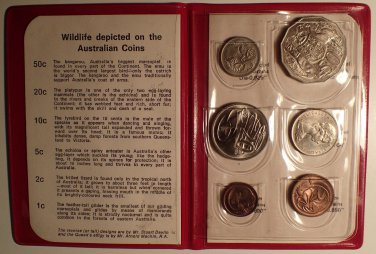 1971 Royal Australian Mint Set Red Wallet UNC!