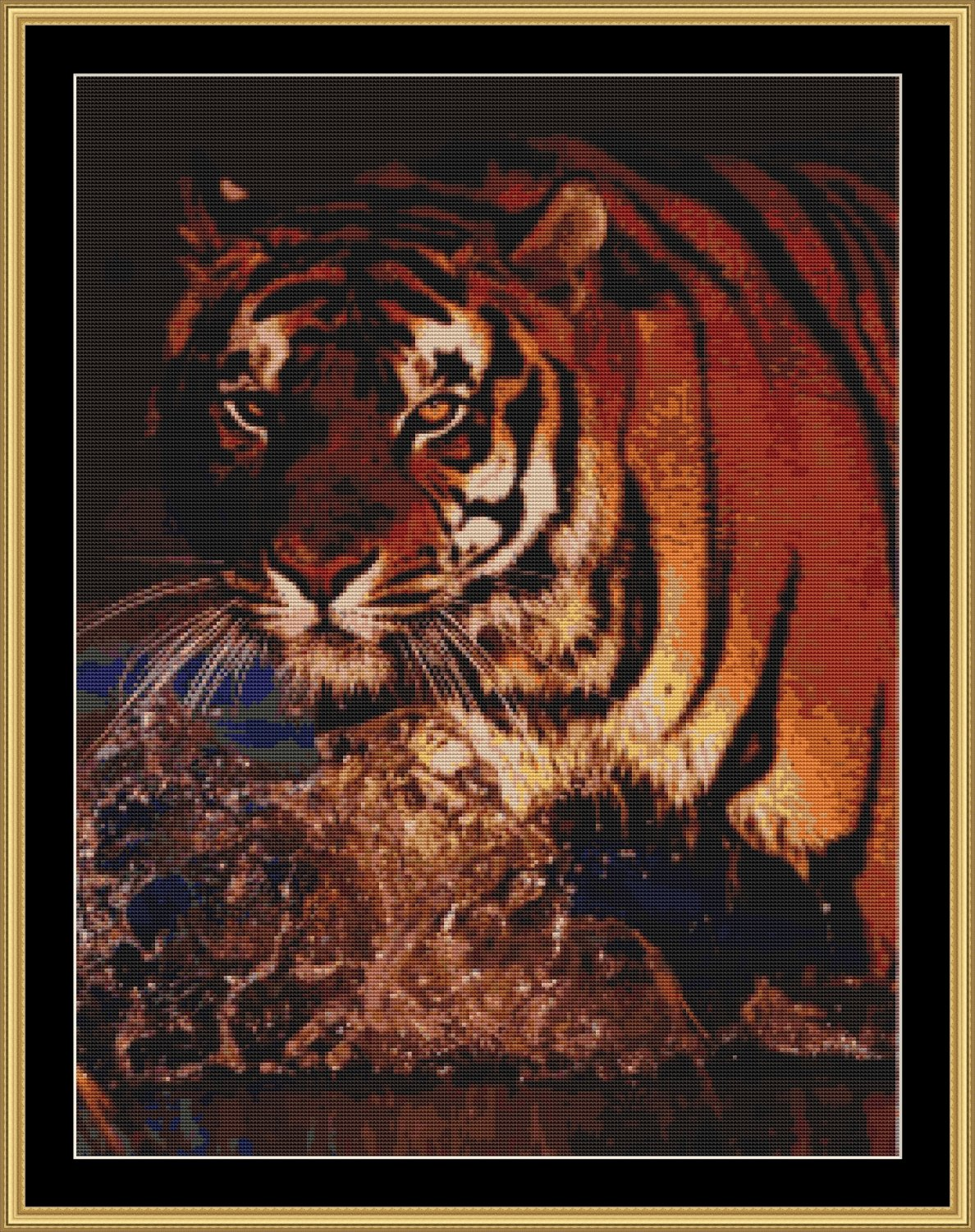 BENGAL TIGER Cross Stitch Pattern  [PDF by email]