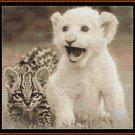 LITTLE FRIENDS  Cross Stitch Pattern [PDF by email] (lion leopard baby)