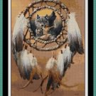 Cross Stitch Pattern- DREAMCATCHER - WOLF * EMAIL delivery*