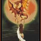 Cross Stitch Pattern- DRAGON MOON * EMAIL delivery*